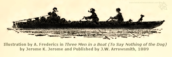 Three Men in a Boat Image on Backinthesameboat.com - Verloren Hoop Productions