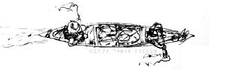 Tandem Canoe Icon - (c) and TM Tamia Nelson/Verloren Hoop Productions
