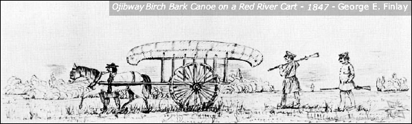 Red River Cart Sketch by George E. Finlay 1847 - Backinthesameboat.com