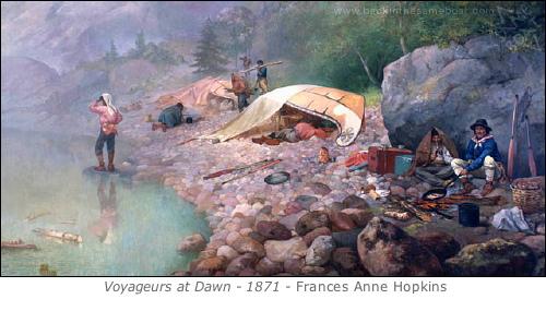 Voyageurs Ashore by Frances Ann Hopkins