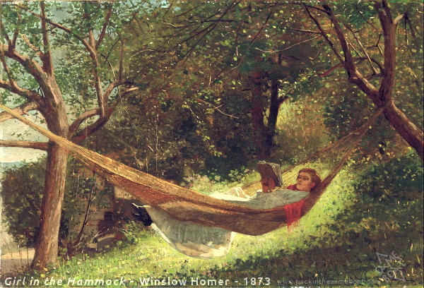 Winslow Homer's Girl in a Hammock Image on Backinthesameboat.com